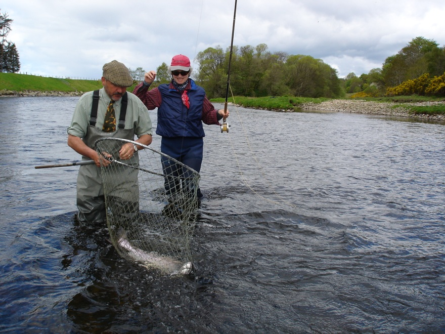 Safely in the net, Crathes Castle