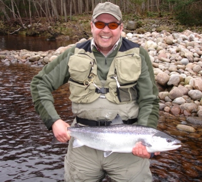 Another happy client on Altyre Estate, river Findhorn