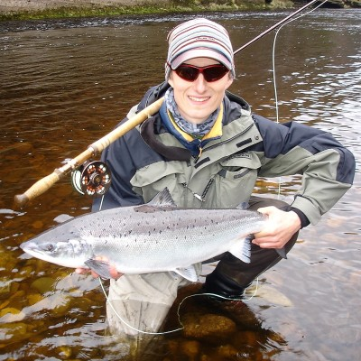 Happy Man and Spring salmon from Altyre Estate, River Findhorn