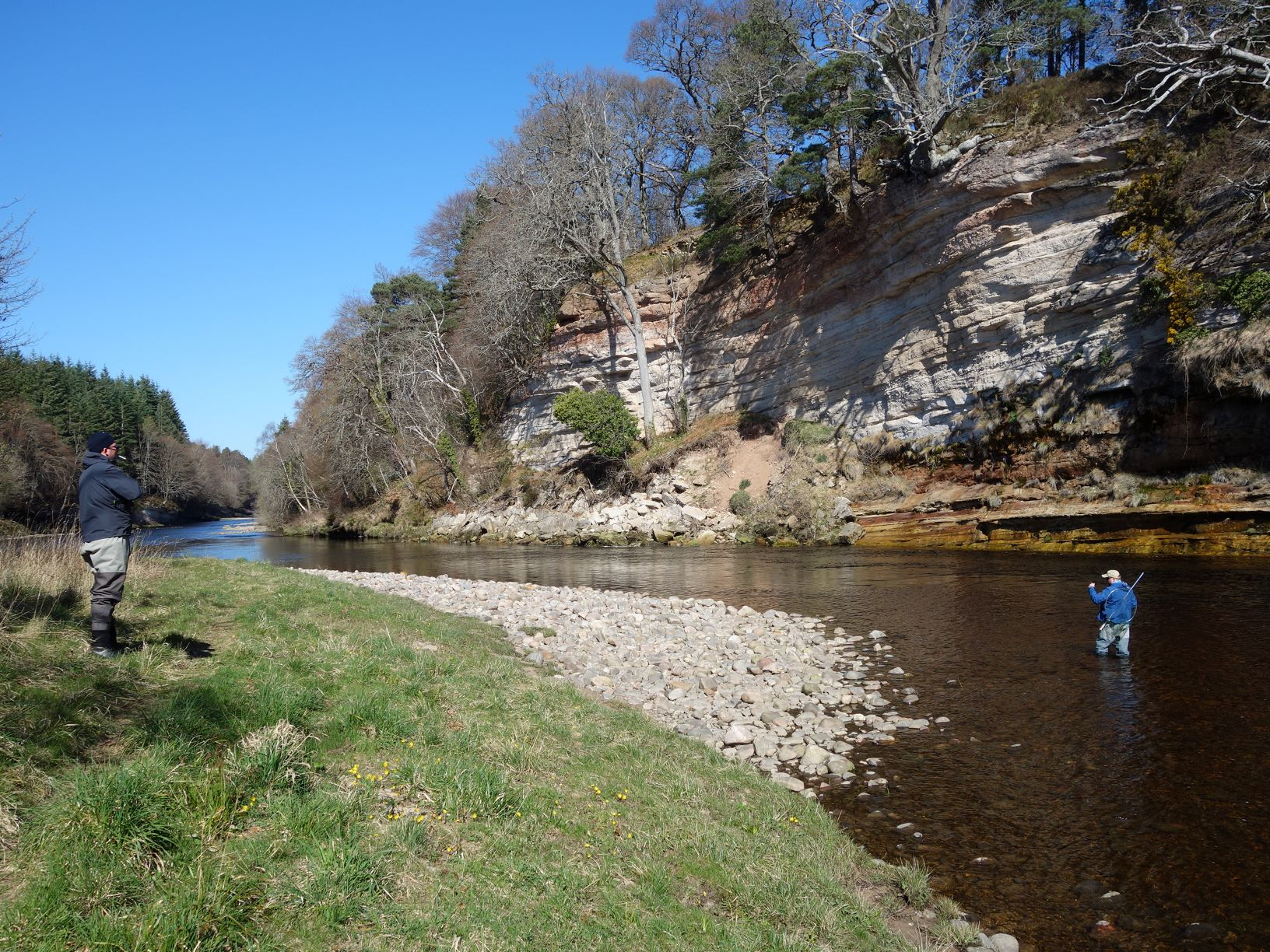 Scene of the lost net in St. John's Pool on the Meads of St. John Beat at Darnaway, River Findhorn