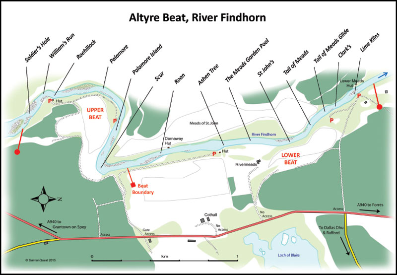 Findhorn Scotland Map.Speycaster Altyre Fishings On The Lower River Findhorn Altyre Estate