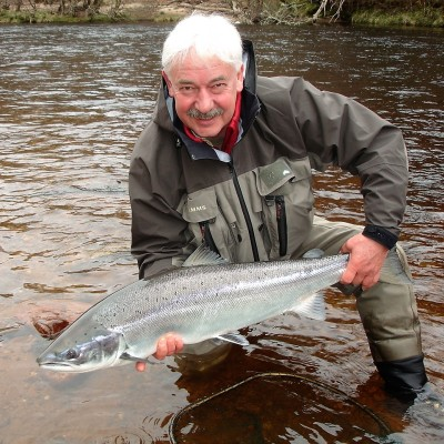 Cracking fresh salmon from Palamore pool on Altyre Estate, River Findhorn