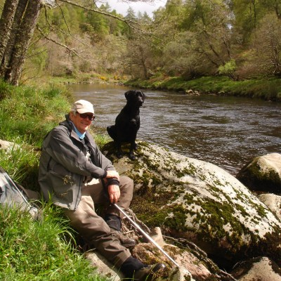 Relaxing by the river Findhorn with good company