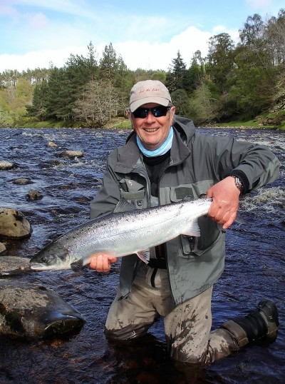 Spring salmon, Princess pool on Glenferness, River Findhorn.