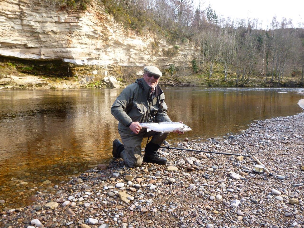 David Tisdale, 7 lbs., Scur Pool, Meads Beat, Darnaway, River Findhorn