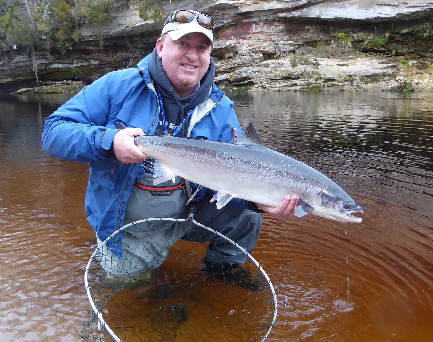 Ron Sutherland, 13 lbs., Scur Pool, Meads Beat, Darnaway, River Findhorn