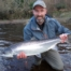 Iain MacDonald looking delighted with his largest salmon of 17 lbs. Scur Pool, Altyre Estate, River Findhorn