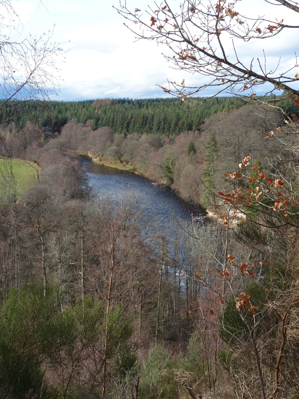 Stunning view from the top of Scur Pool looking upstream towards Palamore Island Pool, Altyre Estate, River Findhorn
