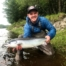 Ross Veitch looking delighted with his first Findhorn Spring salmon of 13 lbs. Roan Pool, Altyre Estate, River Findhorn