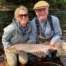 Tabitha Love looking delighted with her first ever Atlantic salmon from the Roan Pool on Altyre Estate, River Findhorn
